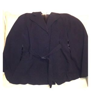 LAUNDRY by SHELLi SEGAL Black Lined Large Poncho